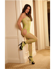 Rene rofe industrial net suspender bodystocking lime o/s