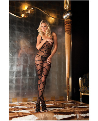Rene rofe strapped up sheer bodystocking black o/s Sex Toy Product