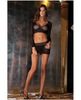 Rene rofe crochet-net bodystocking black o/s