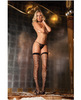 Rene rofe sparkle diamond net thigh high black o/s