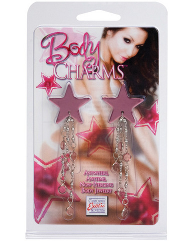 Body charms star - pink