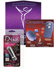 Se9706-14 berman intimate basics cleopatra remote egg and se1135-05 diva bullet - silver