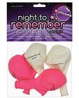 Night to remember 10in balloons w/print - pack of 5 Sex Toy Product