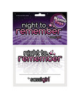 Night to remember party name tags (12 pack) by sassi girl Sex Toy Product