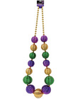 Night to remember jumbo mardi gras bead - multi color by sassi girl