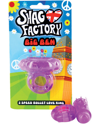 Shag factory big ben 3 speed bullet love ring