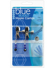Blue beaded nipple clamps w/adjustable broad tip