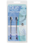 Adjustable tweezer nipple clamps w/blue beads