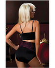Hanging shapewear high waisted bottoms that shapes and smooths black sm