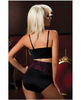Hanging shapewear high waisted bottoms that shapes and smooths black 3x-4x