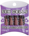 Sex cells batteries aaa - pack of 4