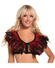 Feather top w/lace backing red o/s