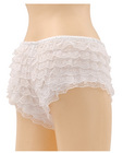 Be wicked ruffle hot pants white small