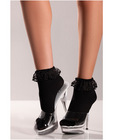 Ankle socks w/lace top black o/s Sex Toy Product