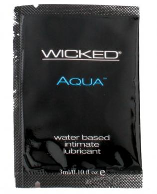 Wicked sensual care collection fragrance free 0.1 oz lubricant - aqua packette - waterbased