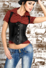 Sophie - Underbust Corset W/ Shoulder Straps and G-String Set - Small (S)