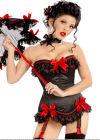 Rouge Noir - Red Ribbon Corset G-String Set (S)