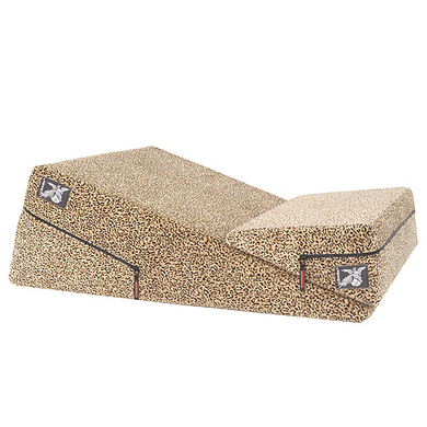 Liberator 24&quot; Wedge/Ramp Combo (Short) in Leopard Microfiber