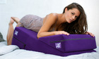 "Liberator 24"" Wedge/Ramp Combo in  Purple Microfiber Sex Toy Product"