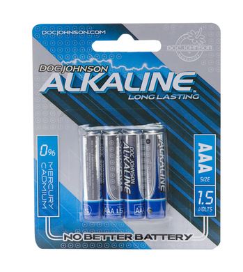 Doc Johnson Alkaline Batteries - 4 Pack AAA