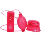 Pucker-Up Vibrating Vaginal & Clitoral Pump - Red