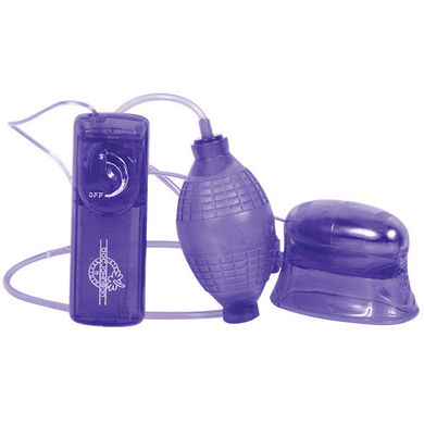 Pucker-Up Vibrating Vaginal & Clitoral Pump - Purple