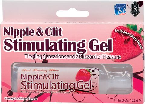 Nipple and Clit Stimulating Gel Strawberry 1oz