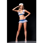 Sailor Set G String White/Blue O/S