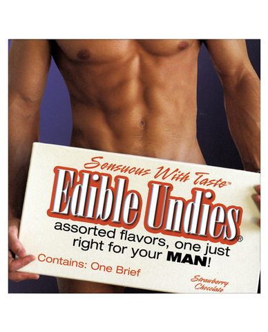 Edible Undies for Men - Straw/Choc