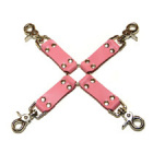 Pink Bound Leather Hog Tie Sex Toy Product