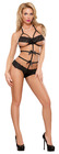 Lace Bow Teddy Black S/M (Bands Of Lace)