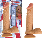 "All American Whopper - 8"" Vibrating W/Balls Flesh"