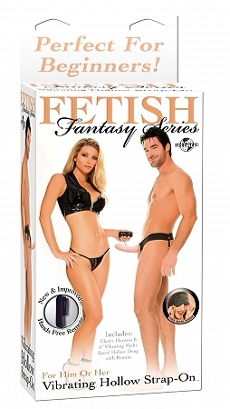 Fetish Fantasy Vibrating Hollow Strap-On