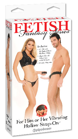 """6"""" Vibrating Hollow Strap-On"""