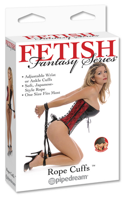 Fetish Fantasy Series Rope Cuffs Black