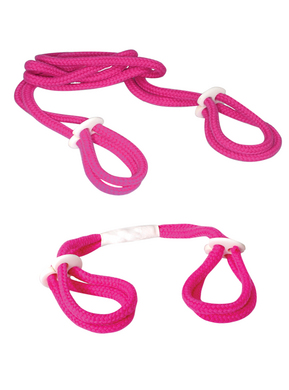 Fetish Fantasy Series Light Pink Rope Cuff Set