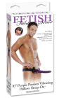 Fetish Fantasy Series 10� Purple Passion Vibrating Hollow Strap-On