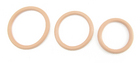 H2H Cock Ring Nitrile 3Pc Set Nude