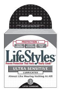 Lifestyles Ultra Sensitive 1 - 3 pack