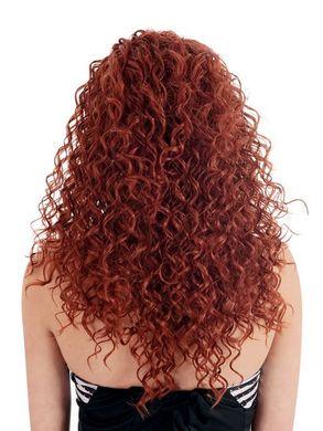 Dare Spiral Curls Fun Burgundy Wig