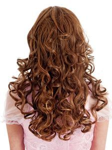 Escape Medium Spiral Curls Straw. Blonde Wig