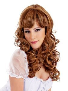 Escape Medium Spiral Curl Brown Wig