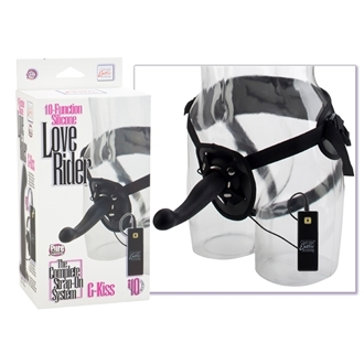 10-Function Silicone Love Rider G-Kiss - Black