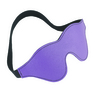 Purple Leather Blindfold with Black Faux Fur Lined