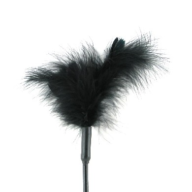 Sex & Mischief Feather Tickler 7in Black