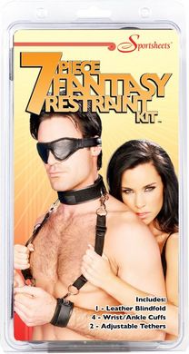 7 pc Fantasy Restraint Kit -Black