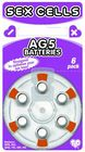 Sex Cells Ag5 Batteries 6 Pack Sex Toy Product
