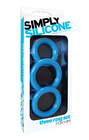 Simply Silicone, Cockring Trio, Sky Blue