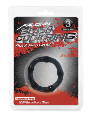 Falcon Glass Cockring 40mm Black