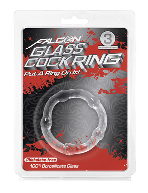 Falcon Glass Cockring 45mm Clear